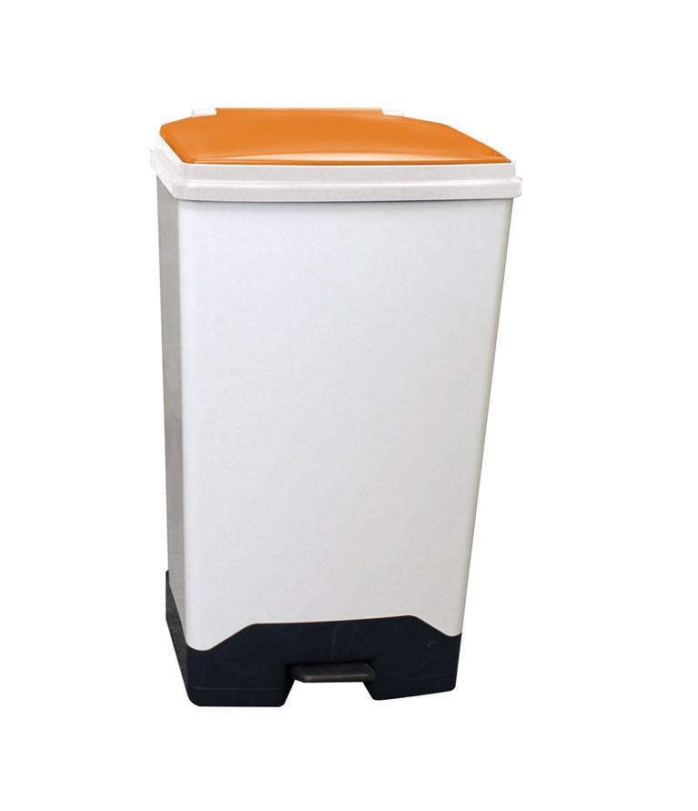 70Ltr Fully Plastic Fire Retardant Sackholder OrangeLid