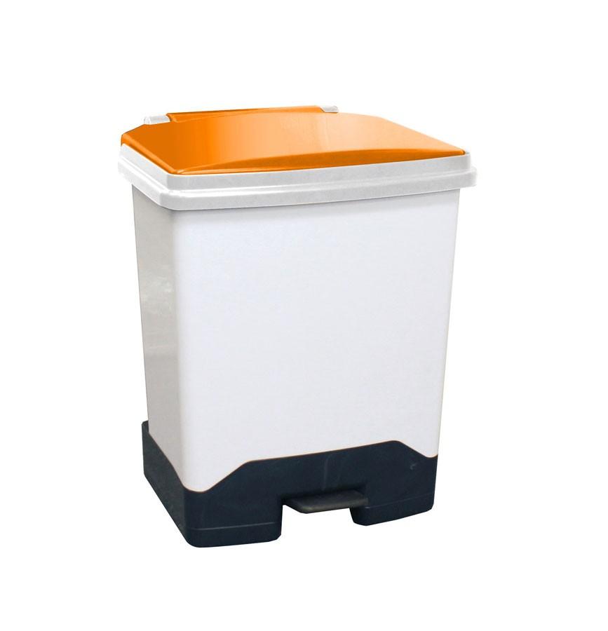 42Ltr Fully Plastic Fire Retardant Sackholder OrangeLid