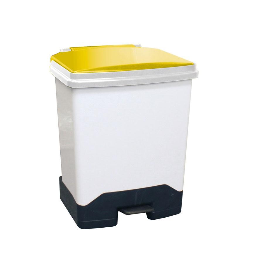 42Ltr Fully Plastic Fire Retardant Sackholder YellowLid
