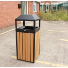 Outdoor Trash Bin Without Ashtray 400x400x950mm